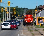 CN 587 street running along Clarence Street